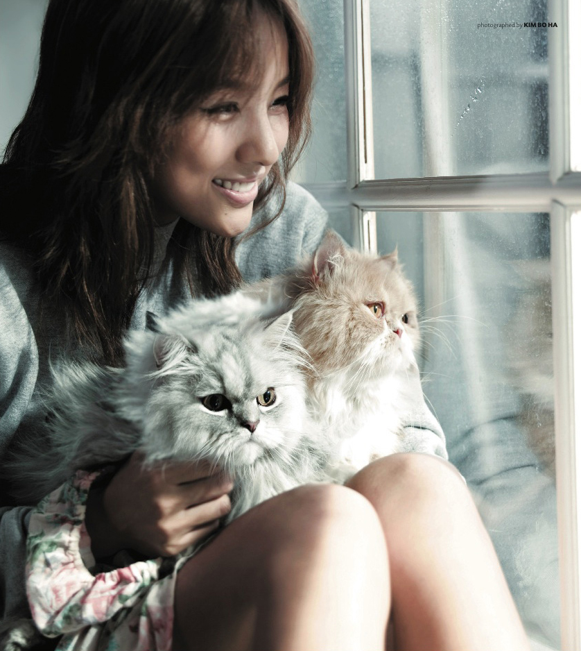Lee Hyori with cats