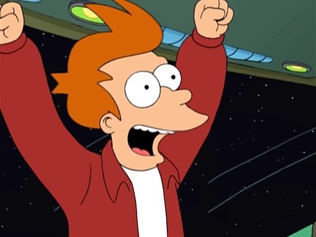 Восторженный крик радостного Фрая. Futurama.